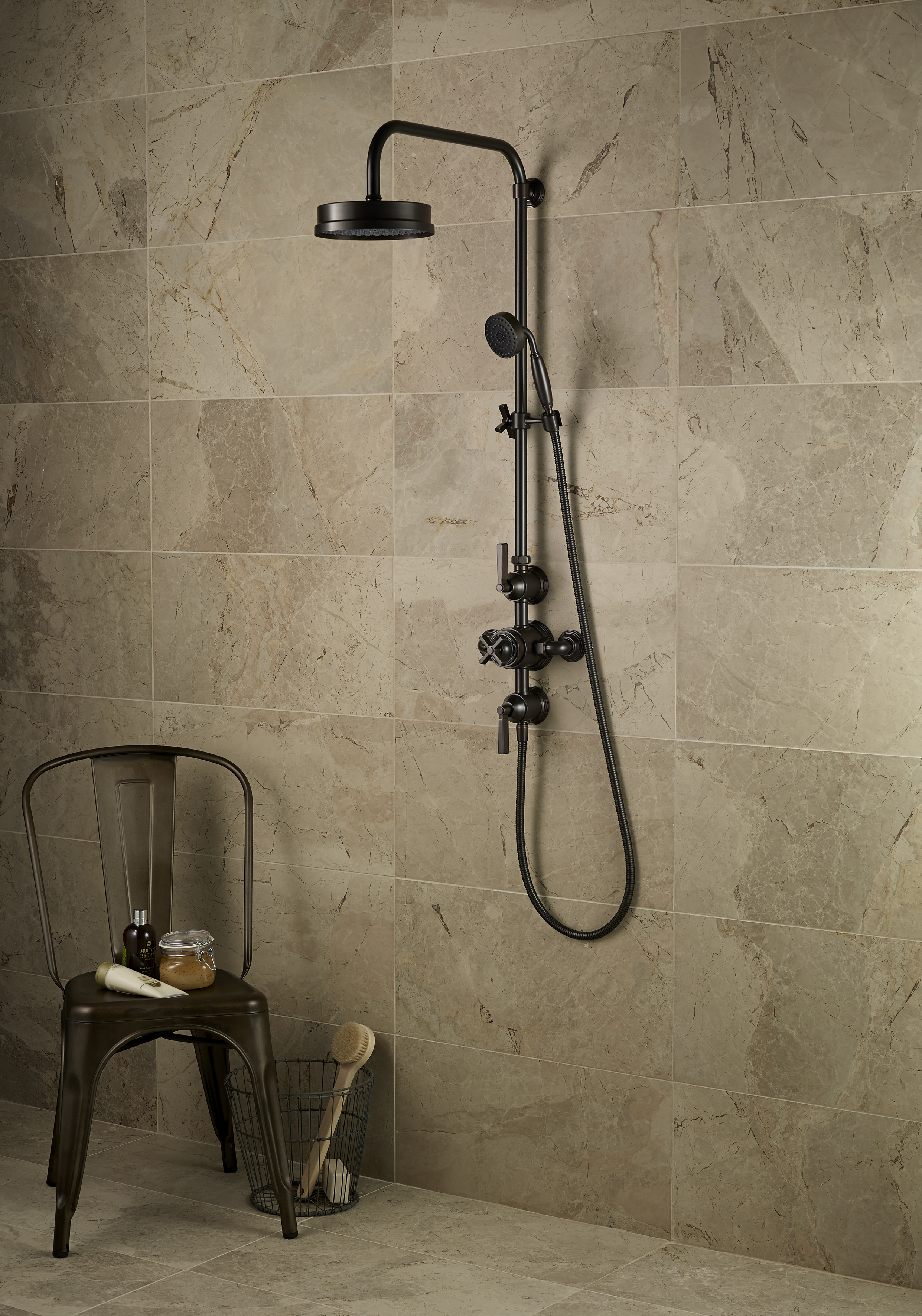 Art Deco inspired shower by Samuel Heath
