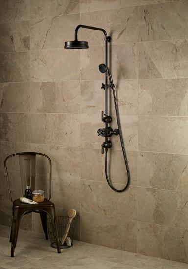 Art Deco inspired shower by Samuel Heath