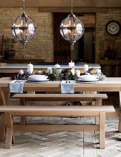 M and S Glass Orb pendant light.