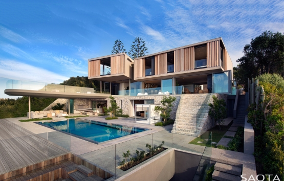 Modern house with pool by Saota Architects Beachyhead South Africa
