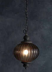 Marks and Spencer smoked glass New Orleans pendant light