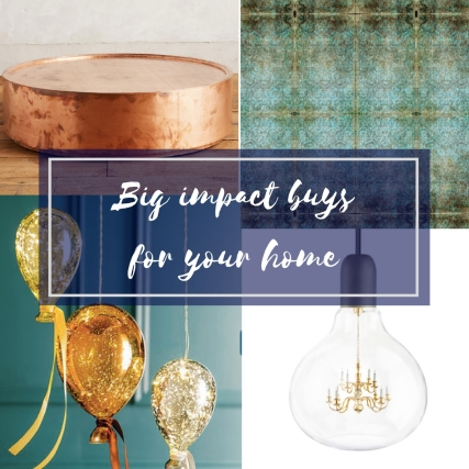 Big impact buys for homes interiors