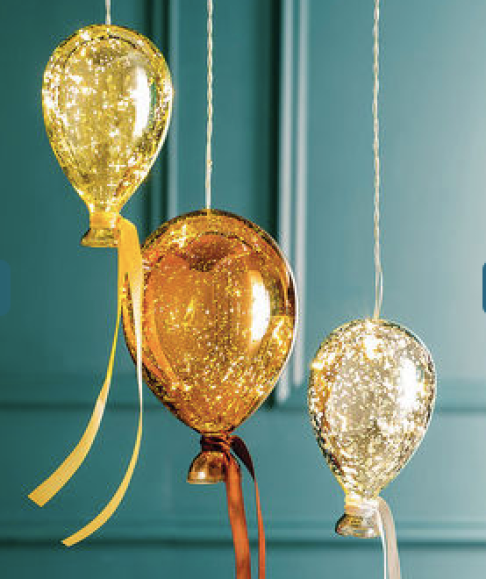 Metallic balloon lights from Not on the High Street