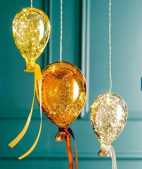Metallic balloon lights from Not on the High Street